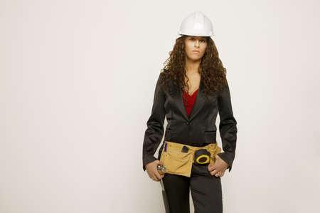 tradesperson: Tradeswoman Stock Photo