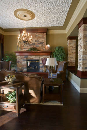 architectural interiors: Interior of a living room