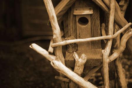 sepias: Birdhouse Stock Photo