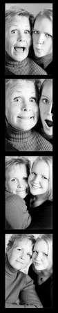 twentysomething: Montaggio di due donne  Archivio Fotografico