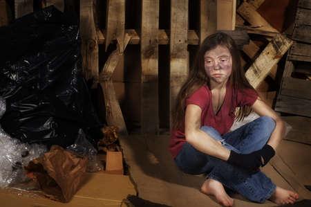impoverished: Impoverished girl