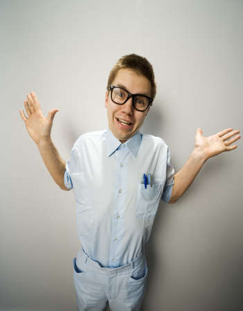 Man wearing glasses Stock Photo