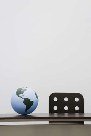 alliances: Globe on a desk