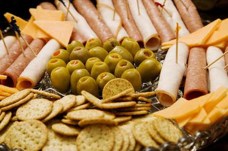 olive green: Appetizer platter