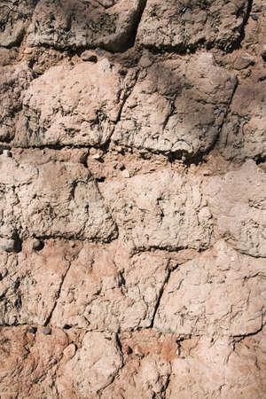 adobe wall: Vecchio muro di adobe