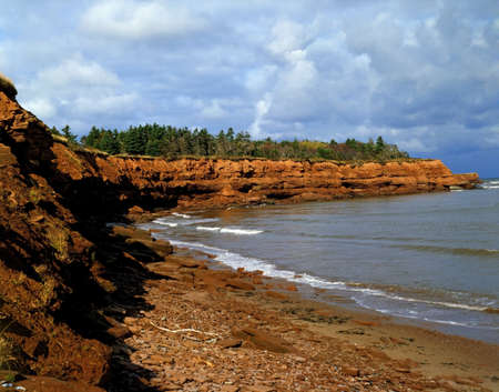 edward: Shoreline in Prince Edward Island, Canada Stock Photo