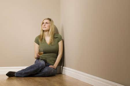 thirty something: Woman holding wine glass