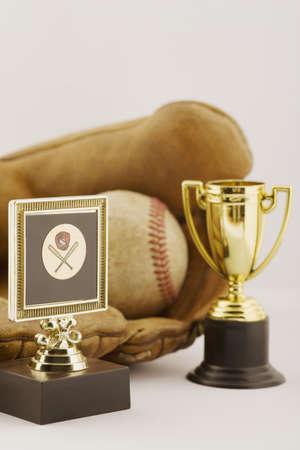 accomplishing: Baseball trophies