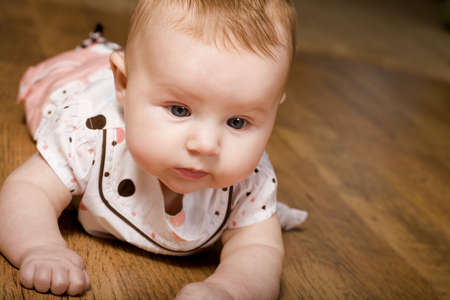 Baby on the floor Stock Photo - 7200504