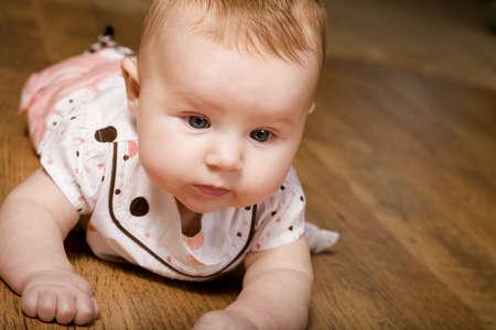 Baby on the floor Stock Photo - 7200504