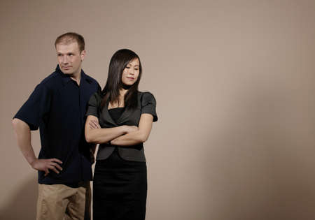 antagonistic: Couple in a disagreement Stock Photo