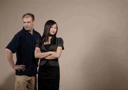 Paar in einer Meinungsverschiedenheit  Standard-Bild - 7200402