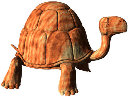 cut outs: Computer generated cartoon turtle