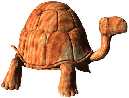 tortuga caricatura: Tortuga cartoon generadas por computadora Foto de archivo