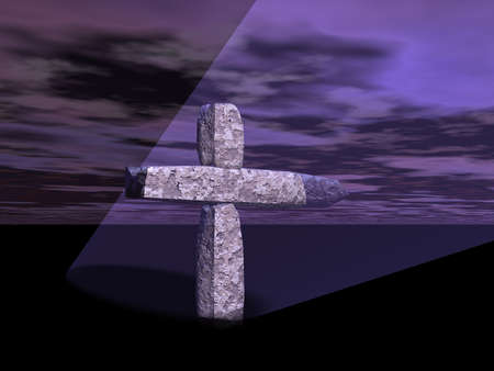 Computer generated cross