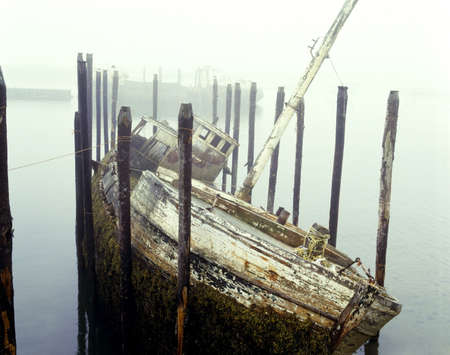 historical periods: Old fishing boat no longer in use at Harbour