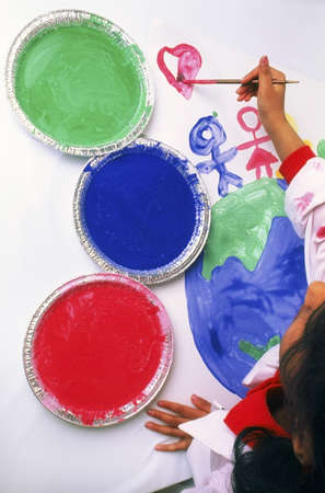 ron: Child painting Stock Photo