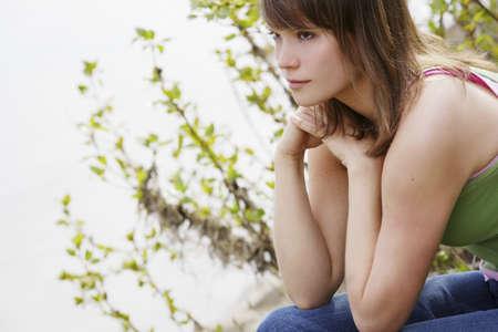 glubish: Woman looking away