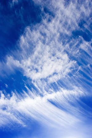 cirrus: Blue sky with scattered clouds