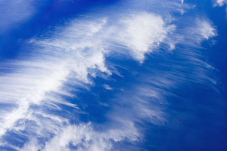 cirrus: White clouds in the sky Stock Photo