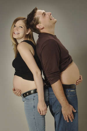 A couple with growing bellies Stock Photo - 7200403