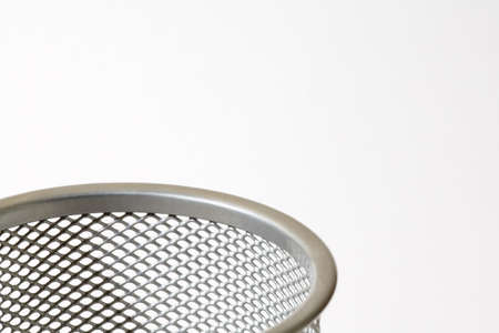 raniszewski: Top of mesh metal pencil holder Stock Photo