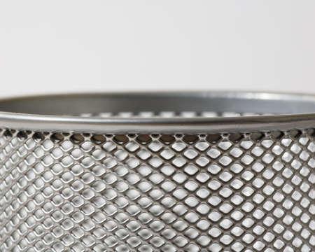 raniszewski: Top of mesh metal pencil holder Stock Photo