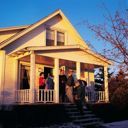 Group meeting at a house Stock Photo - 7201111