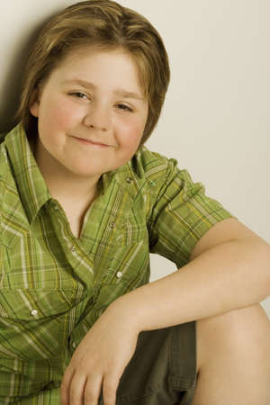 pre adolescent boys: Young boy smiling