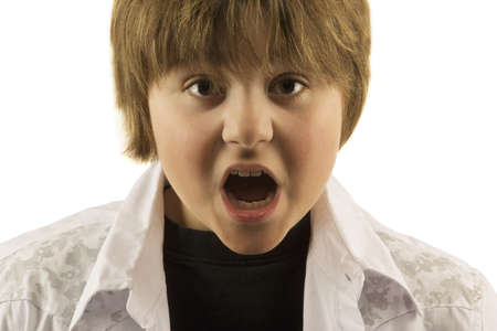 frightfulness: Young boy with mouth open looking surprised
