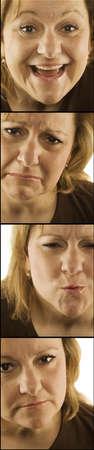 4 images de femme avec divers visages  Banque d'images - 7201180