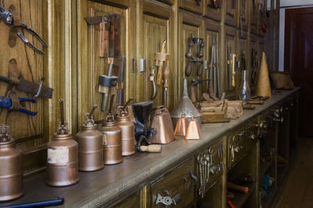 historical periods: Antique tools in an historic hardware store