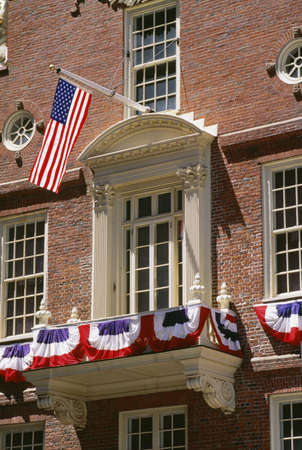 declaration: Old State House in Boston, Massachusetts Stock Photo