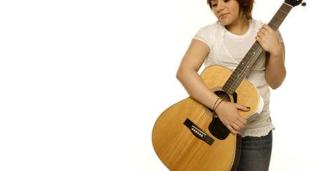 panoramics: Woman holding a guitar