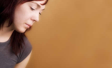 Side view of a sad woman Stock Photo - 7200246