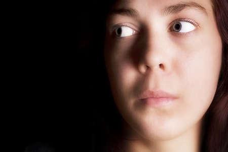 melancholijny: Portret smutna kobieta  Zdjęcie Seryjne