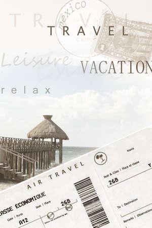 agencia de viajes: Imagen de p�ster de vacaciones generados por ordenador