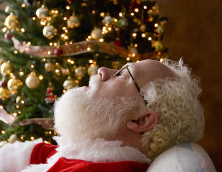 seventy something: Santa taking a nap