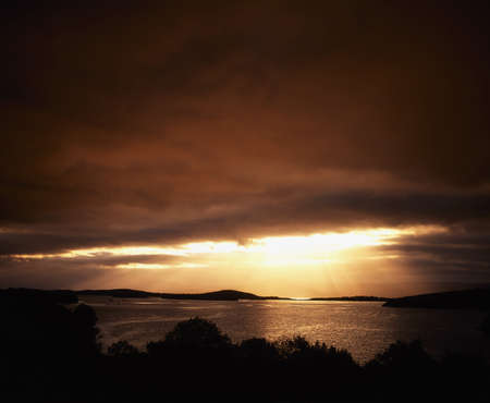 Co Cork, Bantry Bay at sunset, Ireland photo