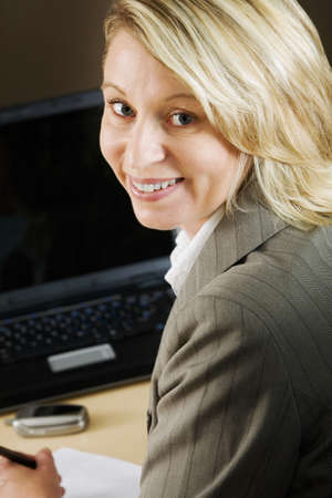 Businesswoman posing for camera photo