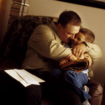 Father hugging son Stock Photo - 7201055
