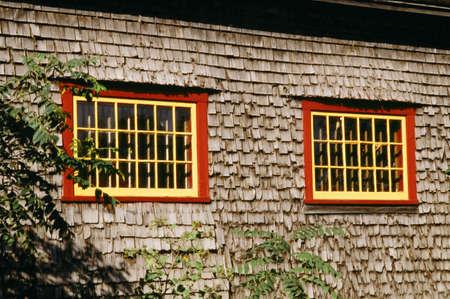 cedar shakes: Windows