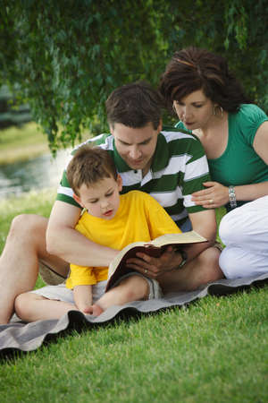devoted: Family reading together