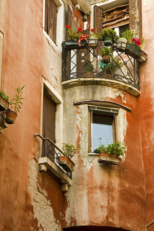 Balcony in San Marco District, Venice, Italy   photo