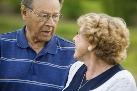 seventy something: Senior couple looking at each other