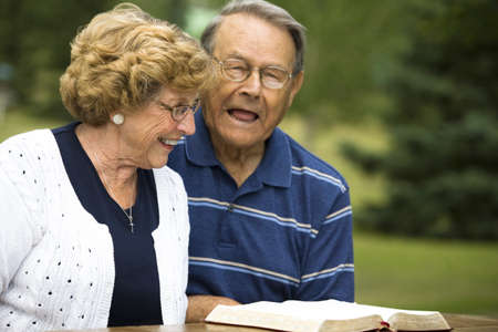 sixty something: Senior couple laughing Stock Photo