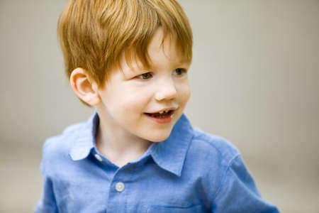 elementary age boy: Portrait of a boy