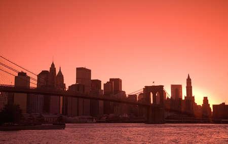 highrises: Lower Manhattan Skyline viewed from Brooklyn Bridge Park, Brooklyn,  New York City, New York, USA
