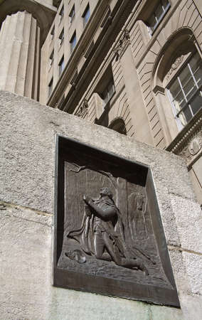 federal hall: Washington at Valley Forge, Federal Hall National Memorial, Lower Manhattan, New York City, New York, USA