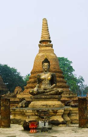 Buddha at Sukhothai Historical Park in Sukhothai, Thailand Stock Photo - 7208914